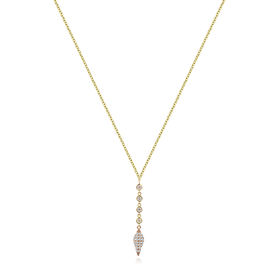 Drop Dagger & Bezel Necklace
