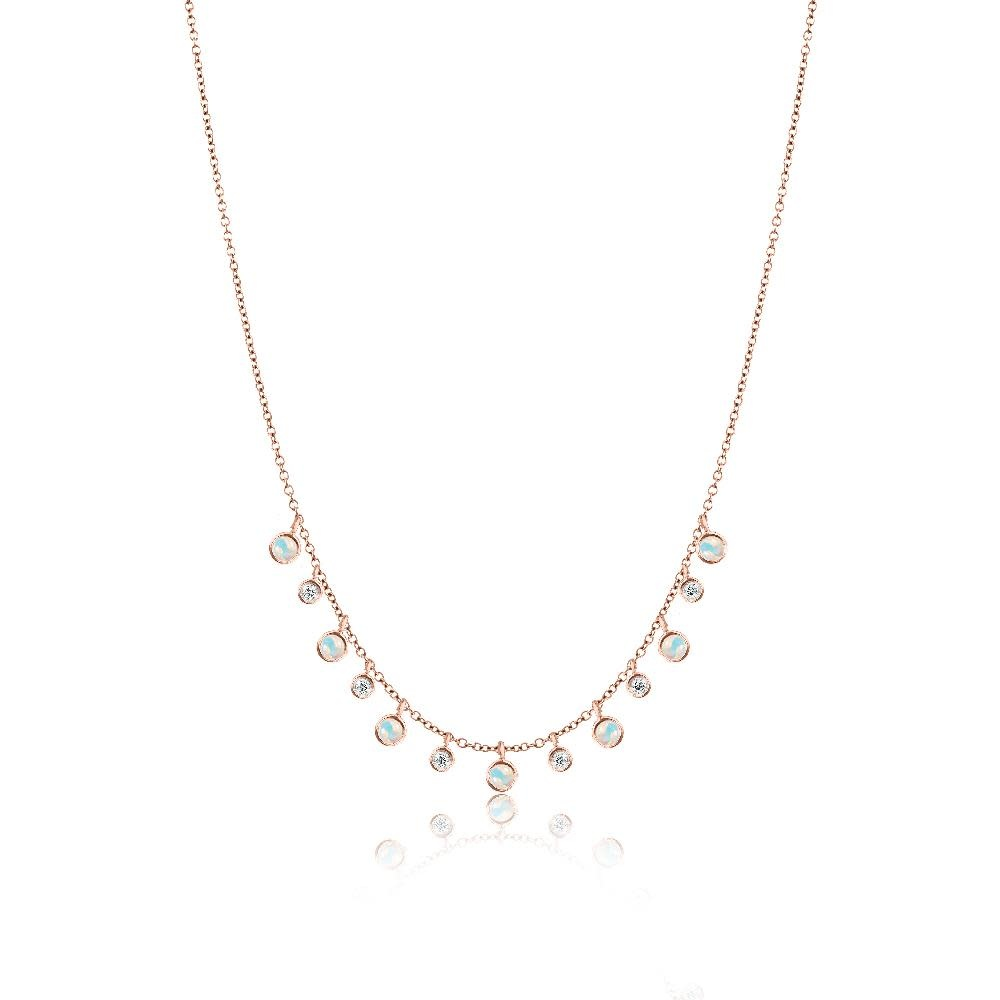 14kt Rose Gold Opal Layering Necklace