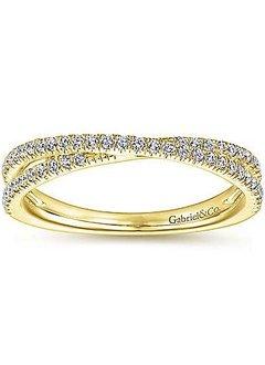 LR51169 criss cross diamond stackable band