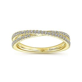 LR51169 criss cross diamond stackable band