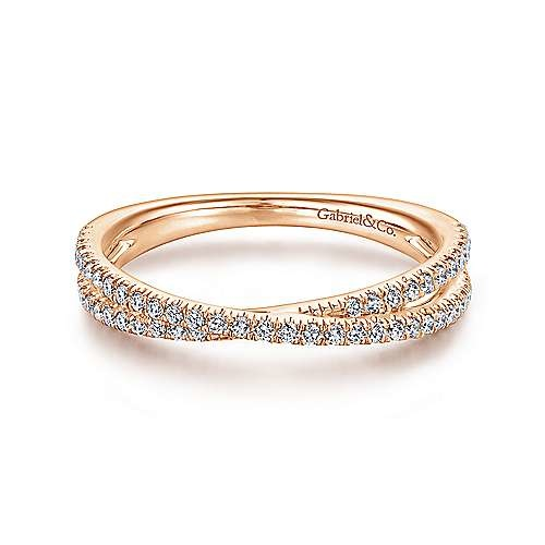 Gabriel & Co LR51169 criss cross diamond stackable band