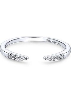 LR51177 Open Diamond Tipped Stackable Ring