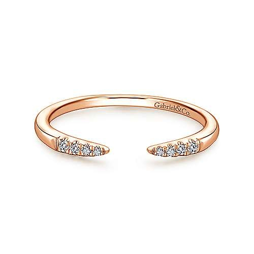 Gabriel & Co LR51177 Open Diamond Tipped Stackable Ring