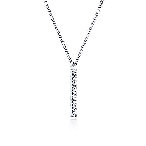Gabriel & Co NK6121 Diamond Rondel Necklace