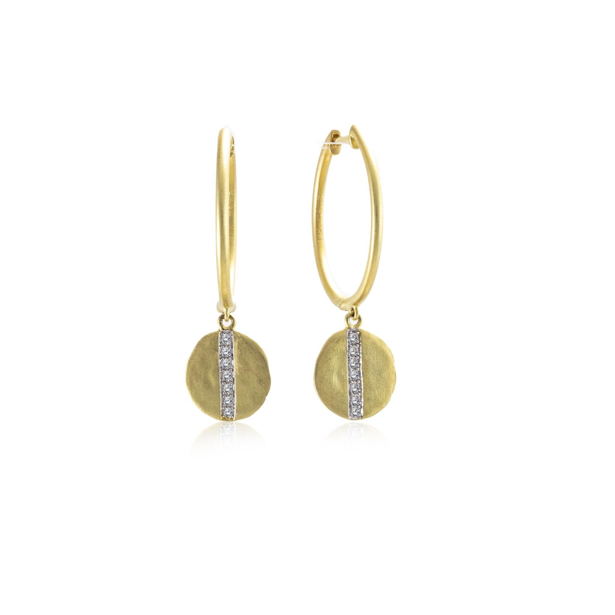 Gold Charm Hoop Earring