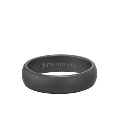 Triton 11-RAW0124 6mm Tungsten Men's Wedding Band