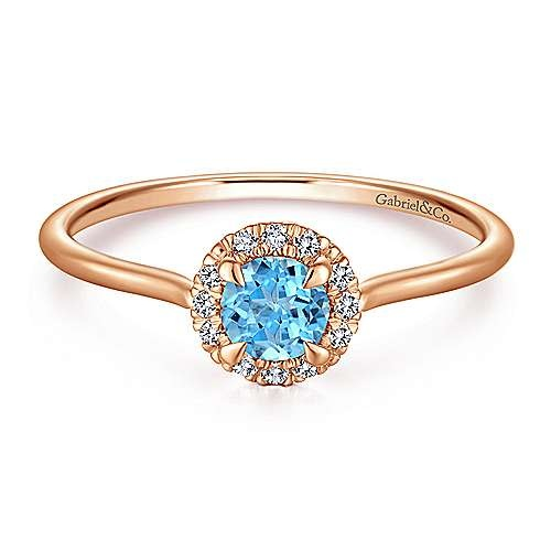 Gabriel & Co LR51264 Swiss Blue Topaz & Diamond Ring