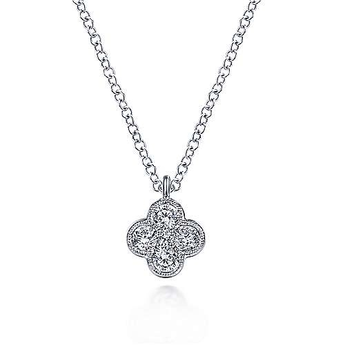 NK6082 Diamond Clover Pendant Necklace
