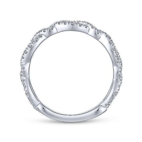 Gabriel & Co LR51259 Twisted Diamond Band