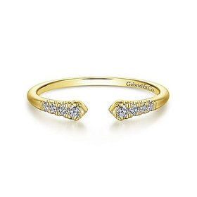 LR51284 Open Pave Diamond Stackable Band