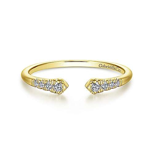 Gabriel & Co LR51284 Open Pave Diamond Stackable Band