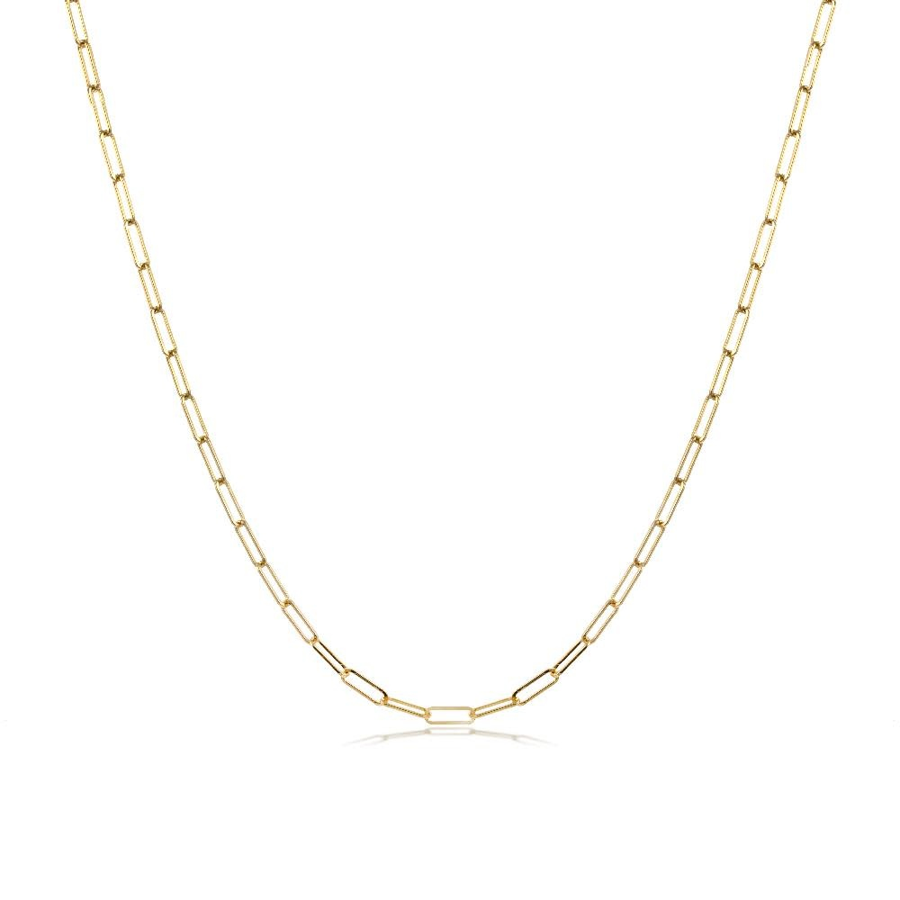 Chunky 5mm Gold Chain Layering Necklace