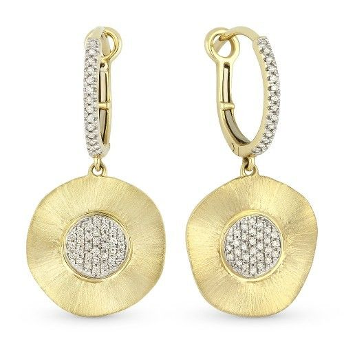 Madison L E1066Y hammered gold earrings