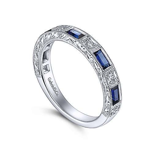 Gabriel & Co AN15367 Sapphire & Diamond Band