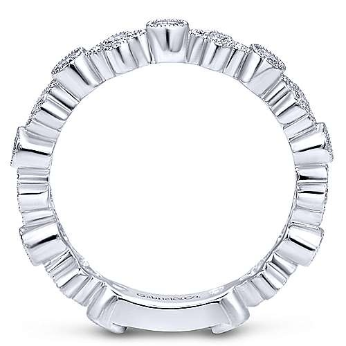 Gabriel & Co LR4414 Alternating Diamond Bezel Band