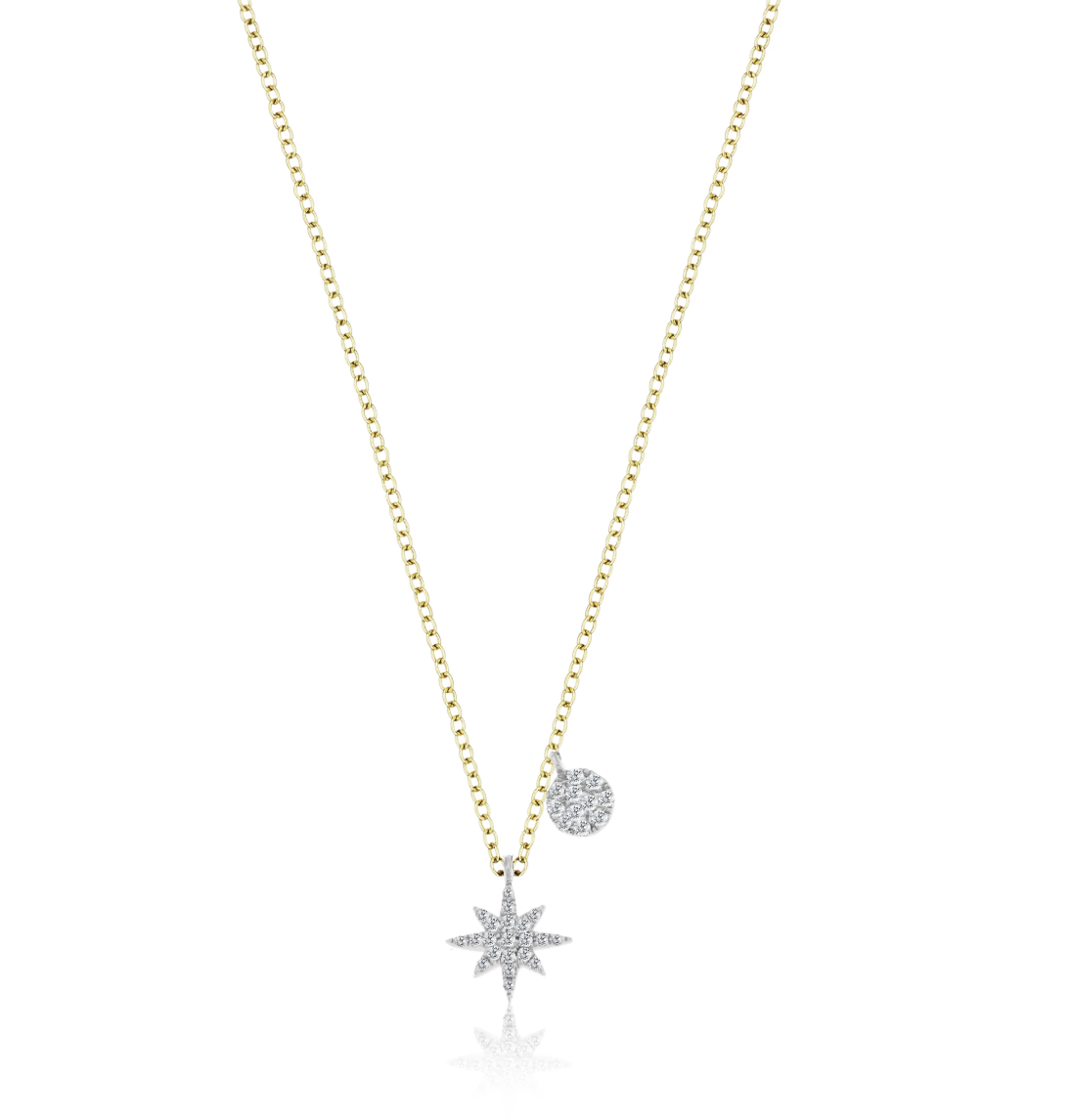 Meira T N11967 Starburst Diamond Necklace