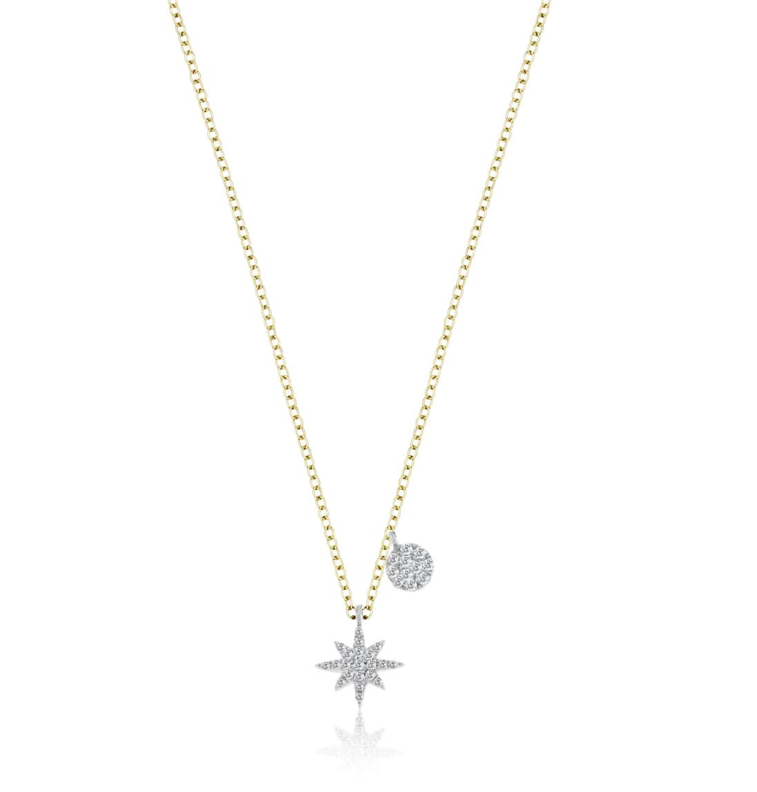N11967 Starburst Diamond Necklace
