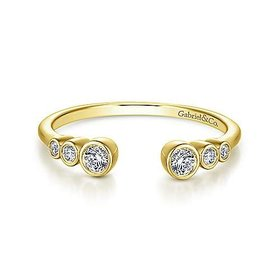 LR51252 Open Bezel Ring 0.13 carat total