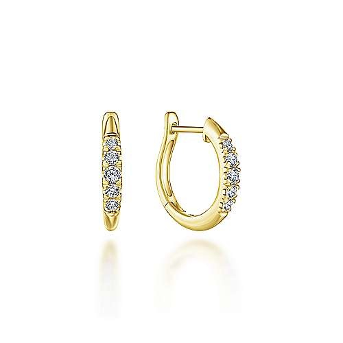 Gabriel & Co 15mm Diamond Huggie Earrings