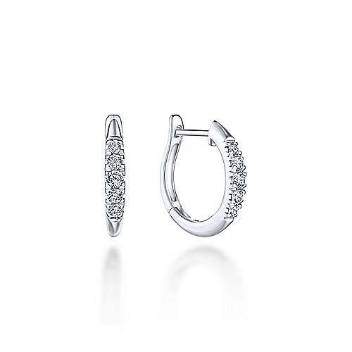 15mm Diamond Huggie Earrings