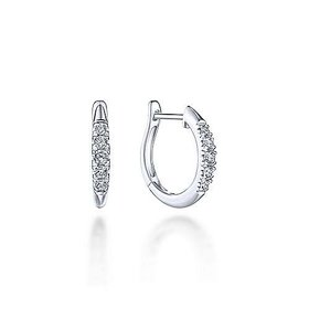 15mm Diamond Huggie Earrings