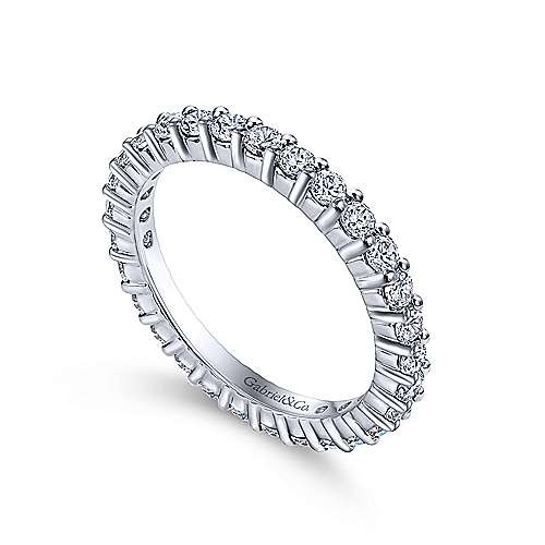 Gabriel & Co AN11248 shared prong eternity band