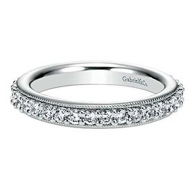 AN6021 Prong Set with Milgrain Diamond Eternity Band