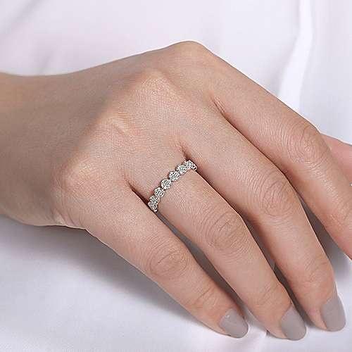 Gabriel & Co LR51478 mini diamond halo wedding ring