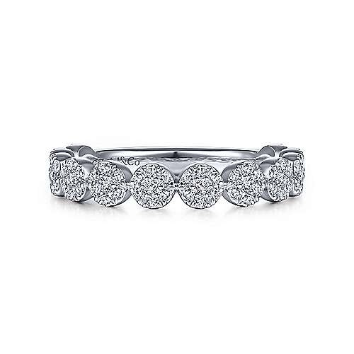 LR51478 mini diamond halo wedding ring