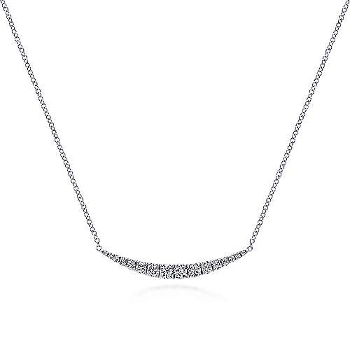 NK4879 1.33 inch diamond bar necklace