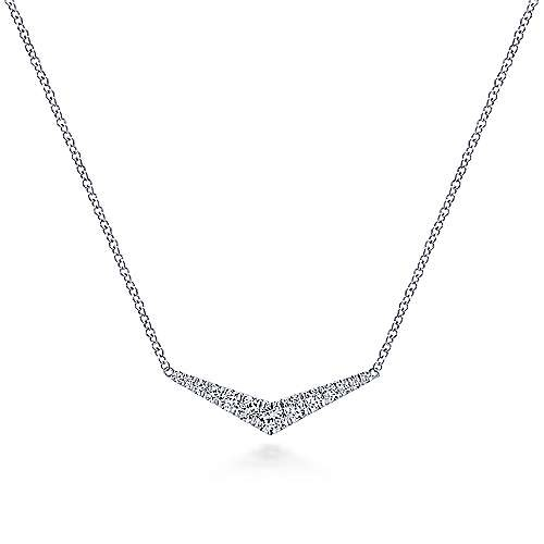 Gabriel & Co NK5568 Diamond Bar Style Necklace