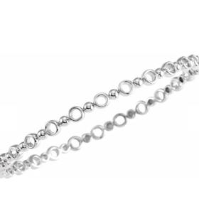 BRC789 Silver Geometric Bracelet