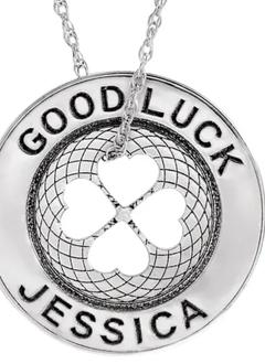 Engravable Good Luck Token Necklace