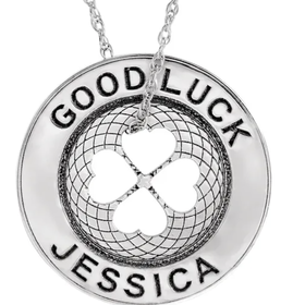Engravable Good Luck Token Necklace