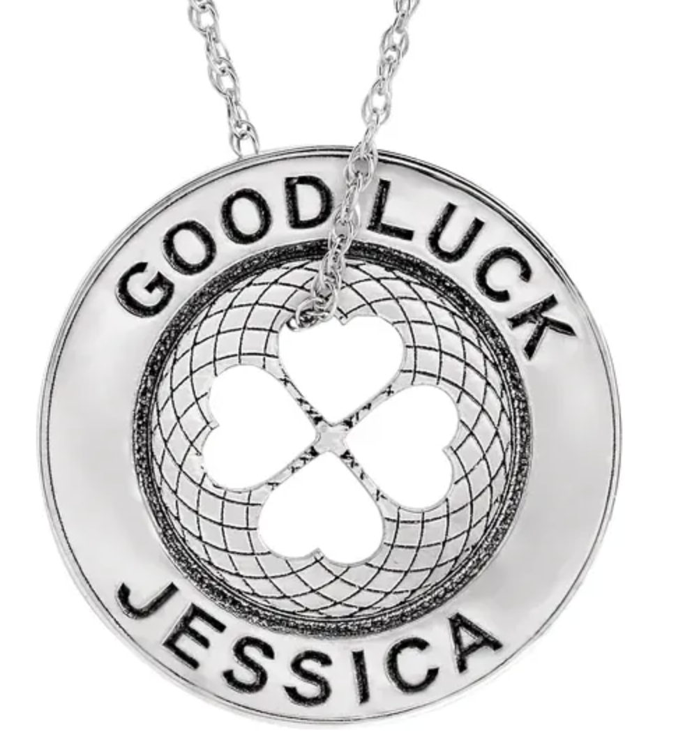 Stuller Engravable Good Luck Token Necklace