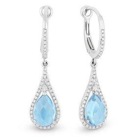 DE10643 blue topaz earrings