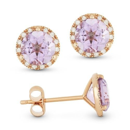Madison L DE11126 Pink amethyst earrings