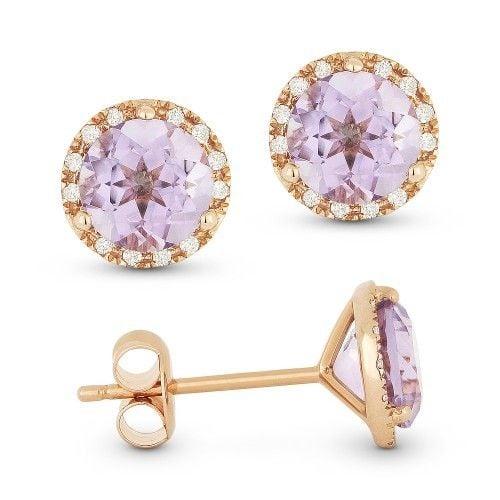 Madison L DE11126 Pink amethyst earrings