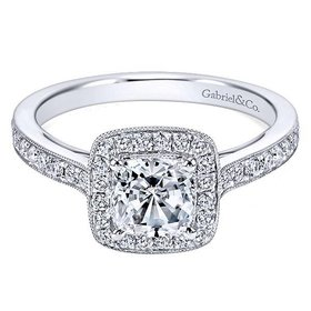 ER10694 cushion cut halo