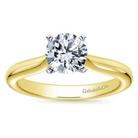 ER6684 Yellow Gold Solitaire