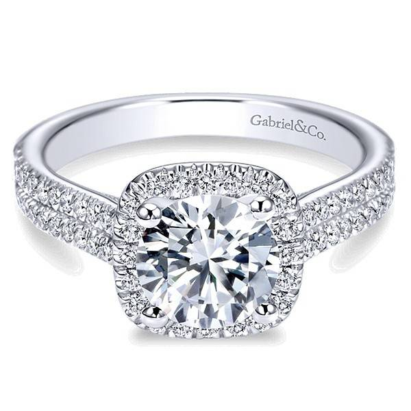 Gabriel & Co ER6984 Brianna 0.45ct. 6.5mm.