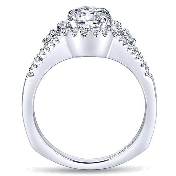 Gabriel & Co ER4179 Reagan halo engagement ring