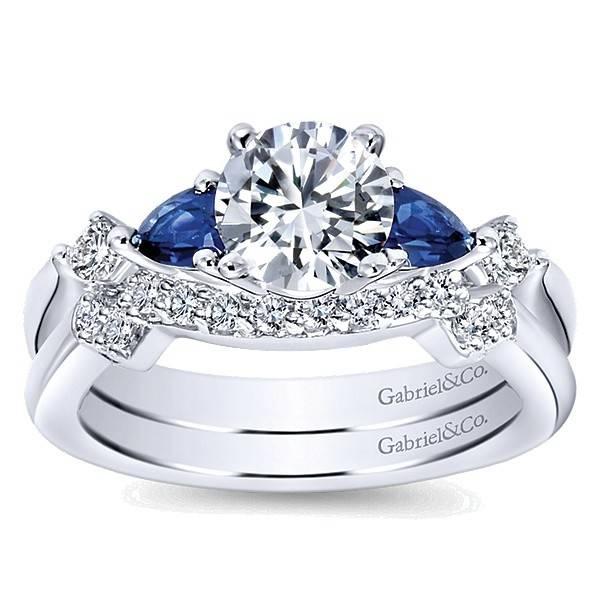 Gabriel & Co ER6002 Sapphire Accents