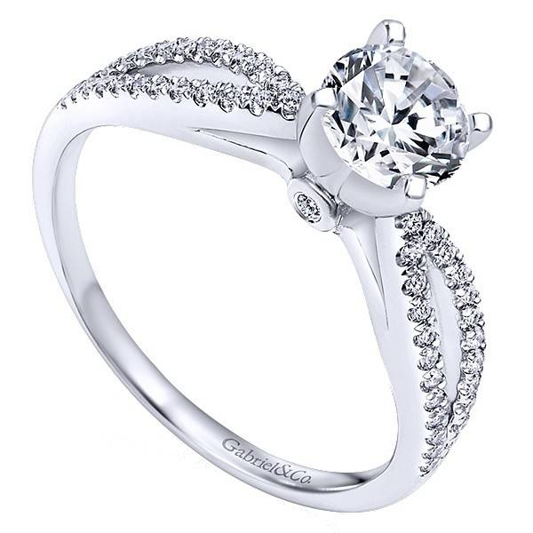 Gabriel & Co ER8129 Elyse 0.15 ct tw 5.75mm