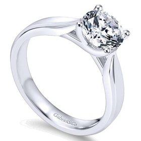 ER6592 solitaire engagement ring