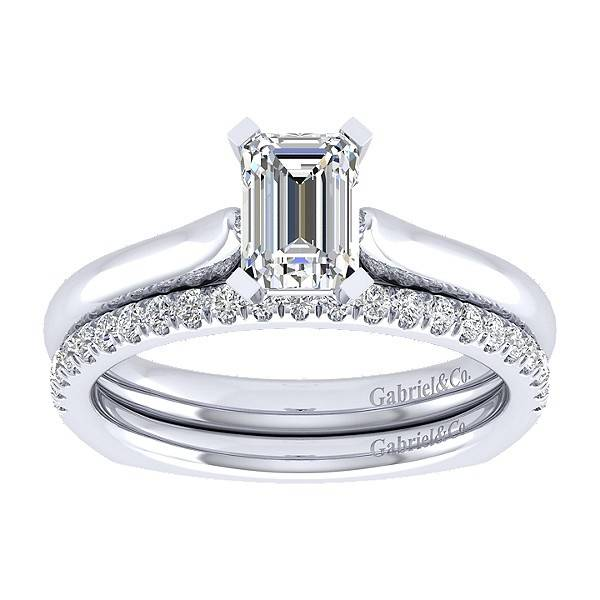 Gabriel & Co ER6623 Emerald Cut Solitaire