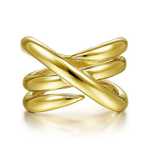 Gabriel & Co 14kt Yellow Gold Wide Twisted Band LR51946