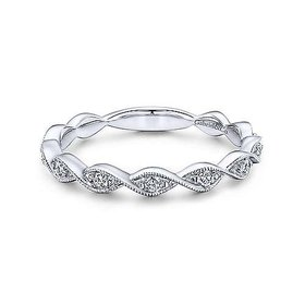 LR51178 twisted diamond stackable band
