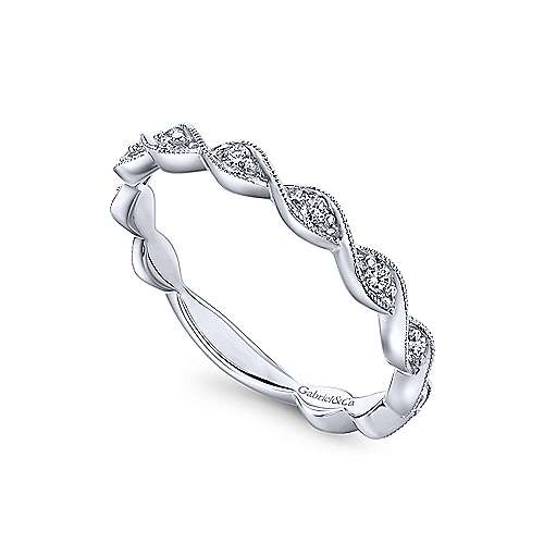 Gabriel & Co LR51178 twisted diamond stackable band