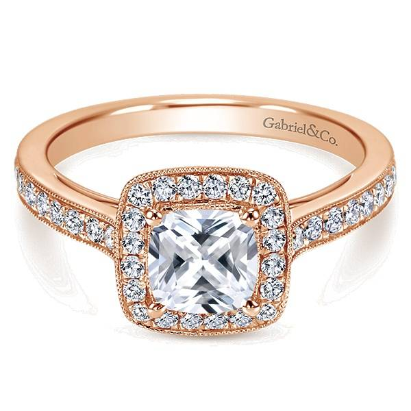 Gabriel & Co ER10694 cushion cut halo